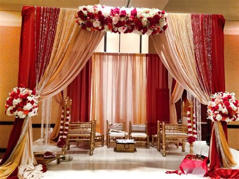 Red and gold wedding Gold wedding decorations Red gold