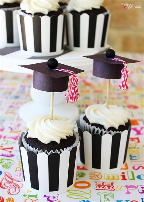 graduation cap cupcake toppers easy  adorable diy