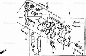 Honda Motorcycle 1993 Oem Parts Diagram For Front Brake