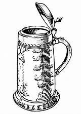 Beer Coloring Jug Bottle Pages Drawing Drawings Printable Bierkrug Getcolorings Getdrawings Tankard sketch template