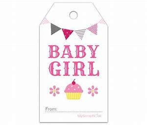 Download this pink cupcake baby girl gift tag and other free printables from myscrapnookcom for Baby shower gift tag printable