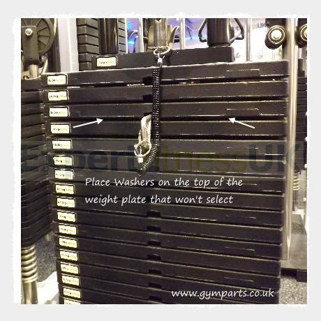 gym parts weight stack plate rubber spacer