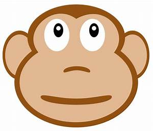 Symmetry clipart monkey face - Pencil and in color ...