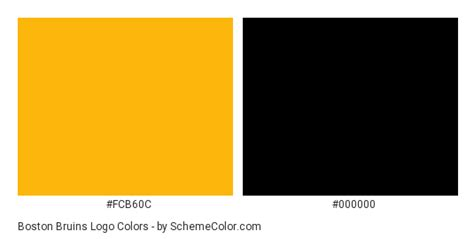 boston colors boston bruins logo color scheme 187 black 187 schemecolor