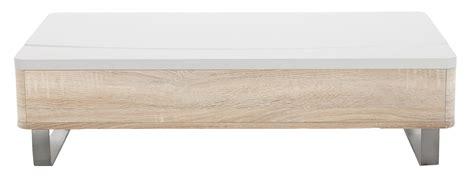 rangements cuisine table basse blanc laque avec rangement lyate