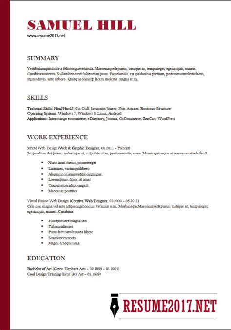 dream job  resume templates professional