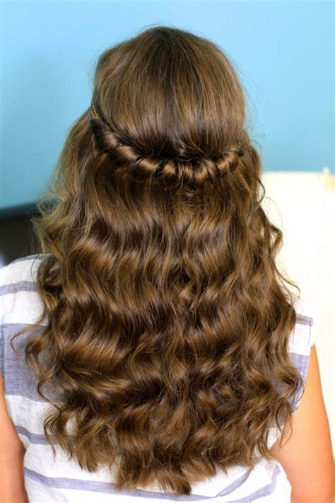 headband twist half up half down hairstyles cute girls