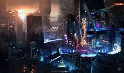 Cyberpunk Cyber Ortega Desktop Artstation Concept Marina