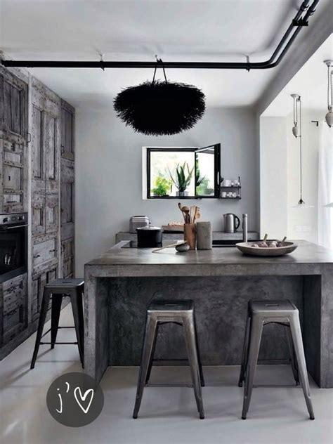 concrete kitchen design go beyond the common aesthetics with concrete kitchen islands Industrial