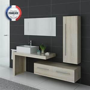 ensemble de meuble de salle de bain 1 vasque dis9250 With meuble de salle de bain simple vasque