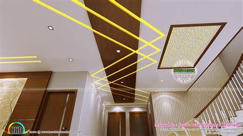 false ceiling bedroom  dining interiors kerala home design  floor plans