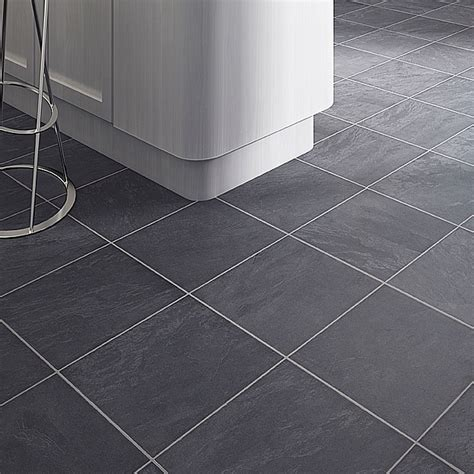 Laminate Tile Flooring For Bathroom by Colours Leggiero Blue Slate Tile Effect Laminate Flooring