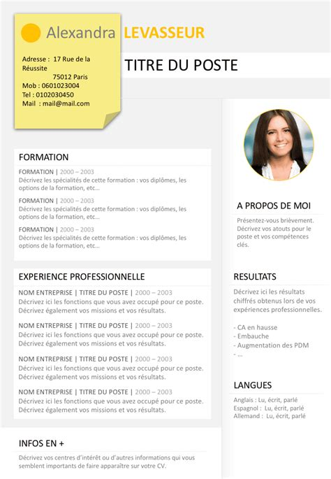 Un Bon Cv by Exemple De Cv Clair Gratuit 224 T 233 L 233 Charger