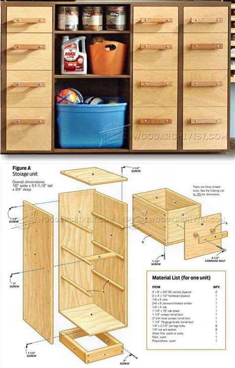 garage storage system plans  images diy projects