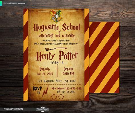 harry potter einladung harry potter einladung hogwarts geburstags einladungkarten