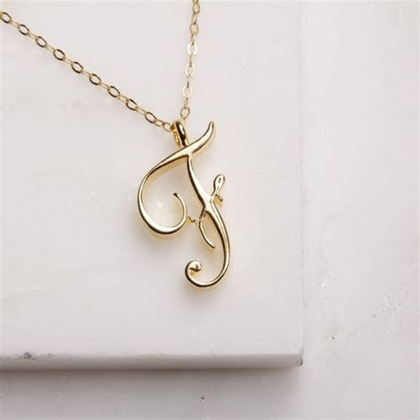 pcs tiny  letter necklace alphabet cursive  monogram necklace charm chain jewelry