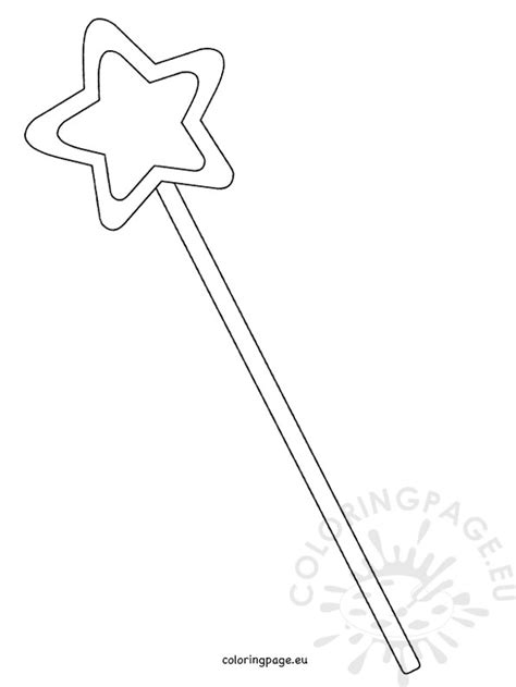 printable magic fairy wand template coloring page