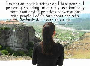 I'm not antisocial; neither do I hate people – Learning Mind
