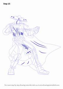 Step By Step How To Draw Raiden From Mortal Kombat