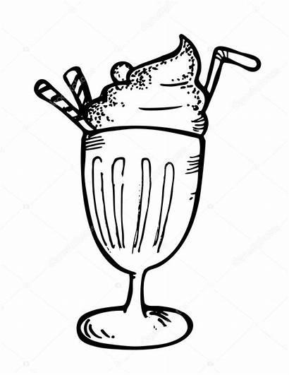Float Ice Cream Straw Vector Beer Root