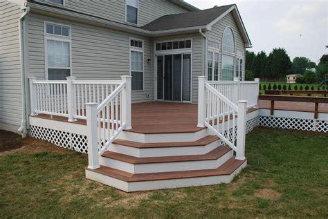 beautiful deck stairs  landing design ideas
