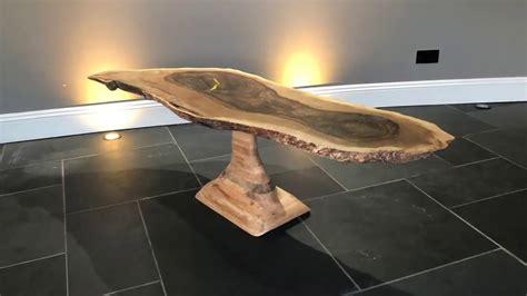 star trek walnut epoxy resin coffee table youtube
