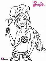 Barbie Coloring Chef Pages Bubakids Stylish Printable sketch template