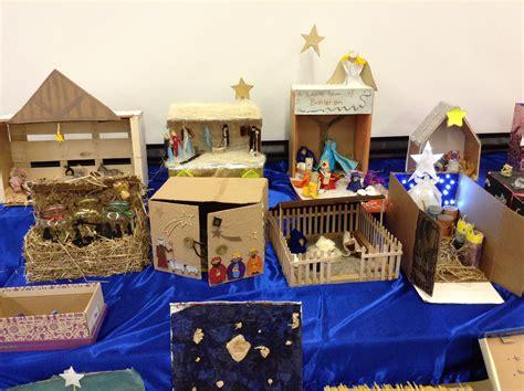 christmas nativity scenes st bernadettes primary school