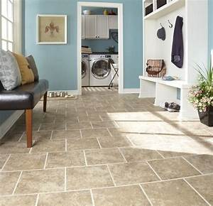 This Porcelain Tile Floor Is Durable  Easy To Clean  And