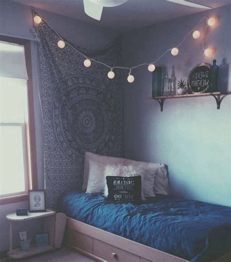 Gray And Yellow Kitchen Ideas - aesthetic bed blue fairylights fres hoom