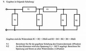 Spannungsabfall Widerstand Berechnen : schaltung mit 6 widerst nden spannung und strom berechnen nanolounge ~ Themetempest.com Abrechnung