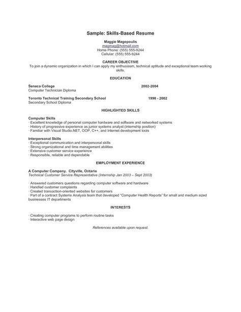 Skills Based Resume Template by 9 Best Resumes Images On Resume Exles