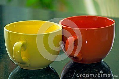 Two Large Coffee Mugs stock photo. Image of colorful