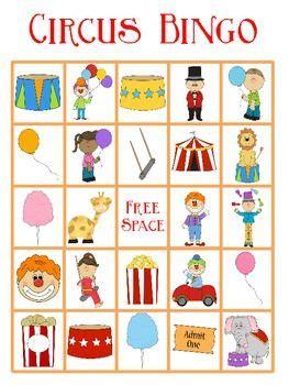 circus lesson plans for preschoolers circus bingo freebie circo circus theme 226