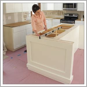 how to install kitchen island build a diy kitchen island build basic