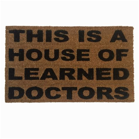 house  learned doctors funny stepbrothers door mat