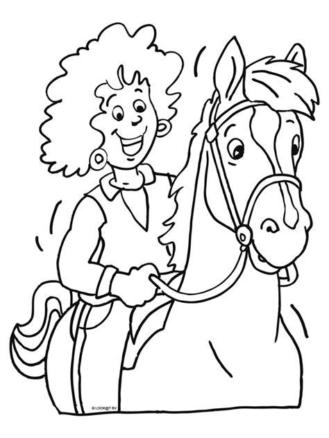 Paardrijden Kleurplaat by Kleurplaat Lekker Paardrijden Kleurplaten Nl