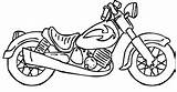 Coloring Pages Bike Motor Motorcycle Popular sketch template