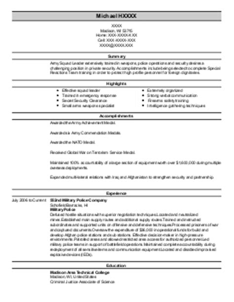 resume for army supply sergeant army supply sergeant