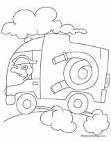 Hydrant Colouring Extinguisher Ambulance sketch template