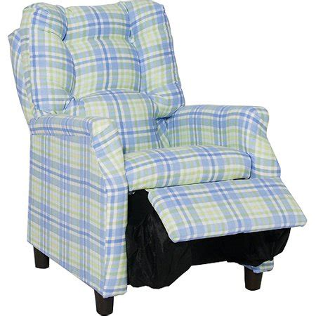 Plaid Recliner by Deluxe Recliner Blue Plaid Walmart