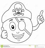Pirate Coloring Eye Hat Patch Smiley Skull Cartoon Character Happy Printables Eyes Illustration Patches Pattern sketch template
