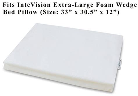 Intevision Foam Wedge Bed Pillow by Compare Price To Large Pillow Covers