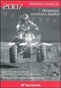 2007 Honda Fourtrax Recon Es Atv Owner U0026 39 S Manual Original