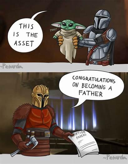 Yoda Mando Mandalorian Meme Wars Fan Bebe