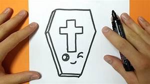 Dessin Facile Halloween : comment dessiner un cercueil kawaii halloween tuto ~ Melissatoandfro.com Idées de Décoration
