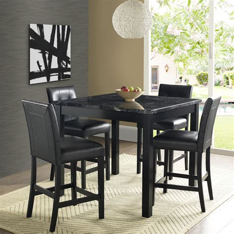 dorel andover faux marble counter height dining set