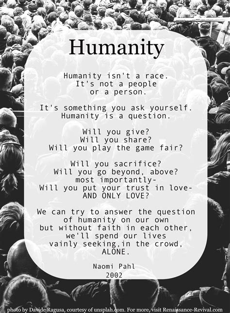 Humanity  Renaissance Revival