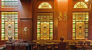 Interior, Design, Stained, Glass