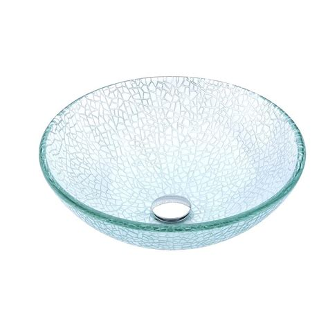 clear glass ls anzzi choir series deco glass vessel sink in clear